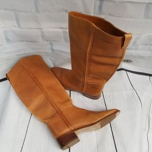 Honey Brown Leather Boots Bootalinos by Corelli